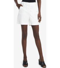 vince camuto women's cotton double weave shorts