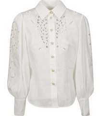 zimmermann peggy embroidered shirt