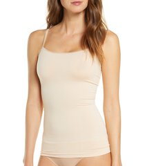 women's yummie seamlessly shaped convertible camisole, size large/x-large - beige
