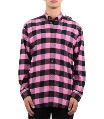 balenciaga pink check shirt