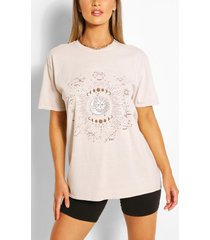 celestial print washed t-shirt