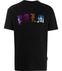 multicolored gothic logo t-shirt