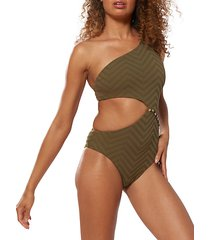 asymmetric maillot swimsuit