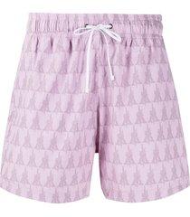 amiri logo print swim shorts - pink