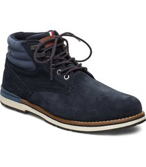 outdoor suede hilfiger boot snörade stövlar blå tommy hilfiger