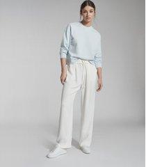 reiss brooke - relaxed loungewear sweatshirt in blue, womens, size l