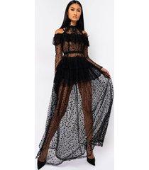 akira dont know yet long sleeve maxi dress