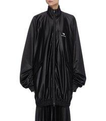 gathered drape track jacket