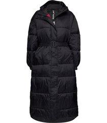 jacket gevoerde lange jas zwart replay