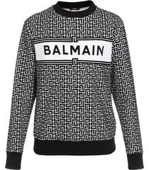 balmain monogram flock sweatshirt