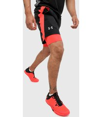 pantaloneta negro-coral under armour ua launch sw 2