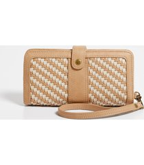 maurices womens cognac woven wallet brown