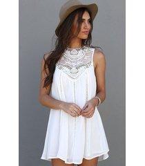 vestido de playa generico encaje blanco
