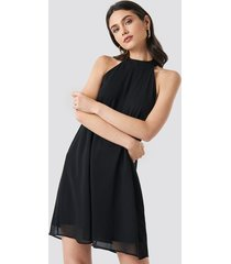 na-kd party halterneck swing dress - black