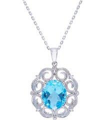 women's milgrain pendant necklace in sterling silver
