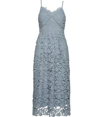 yasluie strap midi dress - show dresses lace dresses blå yas