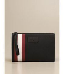 bally briefcase skid bally clutch bag in coated canvas with trainspotting
