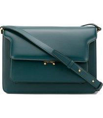 marni trunk multi-pocket crossbody bag - blue