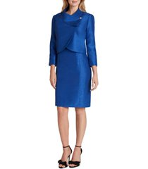 tahari asl cropped jacket dress suit