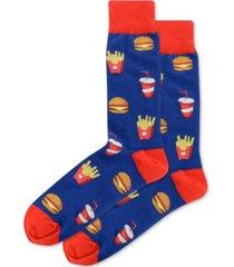 hot sox men's burger and fries socks