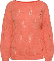 visouta l/s boat neck knit top/l stickad tröja rosa vila