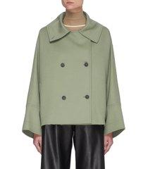 crop double breast jacket