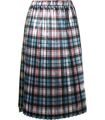 nº21 plaid pleated skirt - multicolour