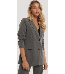 na-kd classic blazer med lös passform - grey