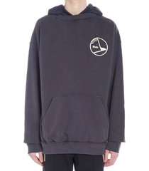 rhude layered french terry hoodie
