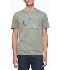calvin klein men's diagonal-stripe logo graphic t-shirt