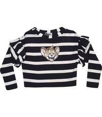 monnalisa jerry striped sweater