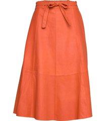 50158 knälång kjol orange depeche