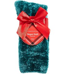 charter club women's chenille super soft cozy socks, created for macy's