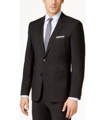 hugo men's black classic-fit jacket