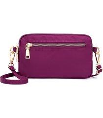 donna nylon solid multitasche a tracolla borsa pochette borsa