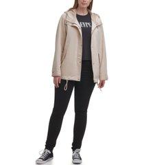 levi's trendy plus size hooded rain jacket