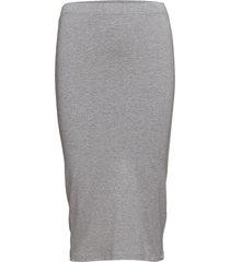 tutti x-long knälång kjol grå modström