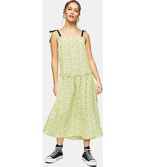petite lime green tie tiered sun dress - lime