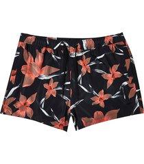 river island mens black floral print swim shorts