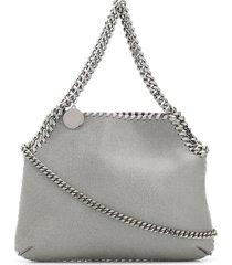 stella mccartney grey and silver falabella mini shoulder bag