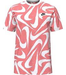 camiseta nike nsw hand drawn aop - rojo