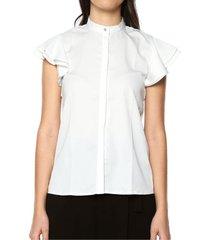 camisa lisa para mujer - blanco