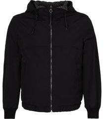 salvatore ferragamo hooded reversible nylon jacket