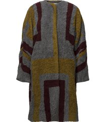 tribal knit coat wollen jas lange jas multi/patroon rabens sal r