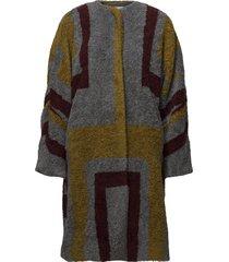 tribal knit coat wollen jas lange jas multi/patroon rabens sal r