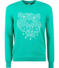 kenzo tiger head rubber print sweatshirt