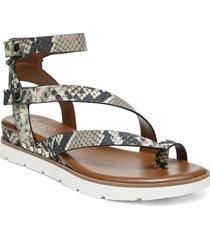 women's franco sarto daven sandal, size 8.5 w - grey