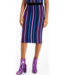 bar iii metallic striped pencil skirt, metallic striped pencil skirt
