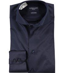 cavallaro overhemd navy blue uni mouwlengte 7