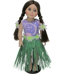 """the queen's treasures 18"""" doll clothes hula outfit"""